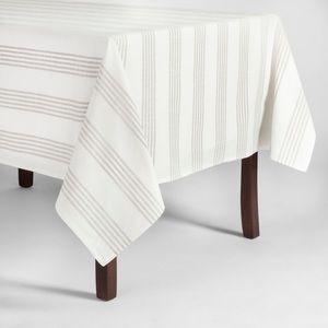 Gray Stripe Tablecloth
